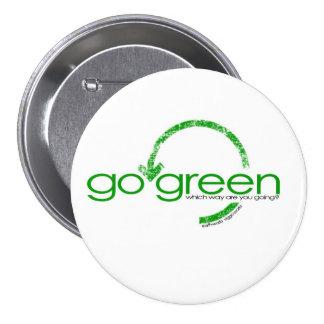 Recyceln Sie grünen Pfeil Runder Button 7,6 Cm