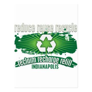 Recyceln Sie Indianapolis Postkarte