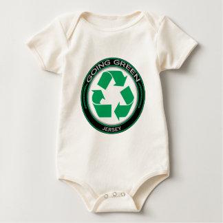 Recyceln Sie Jersey Baby Strampler