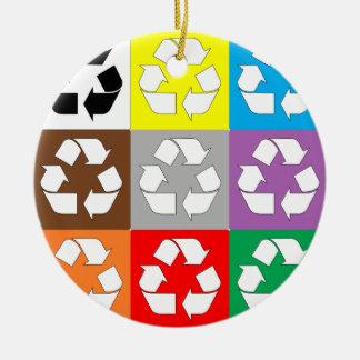 Recyceln Sie Keramik Ornament