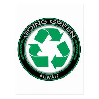 Recyceln Sie Kuwait Postkarte