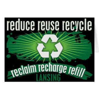 Recyceln Sie Lansing Karte
