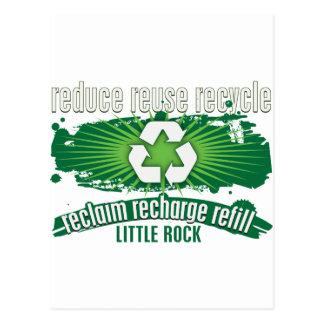 Recyceln Sie Little Rock Postkarte