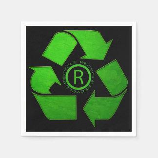 Recyceln Sie Logo durch Shirley Taylor Papierserviette