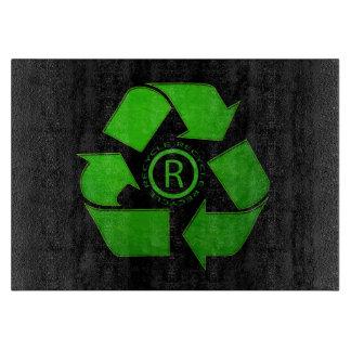 Recyceln Sie Logo durch Shirley Taylor Schneidebrett