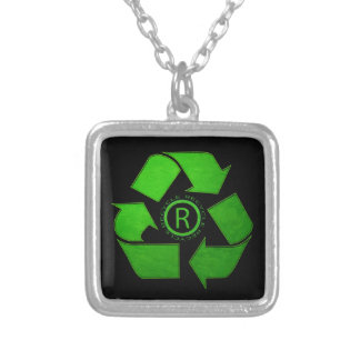 Recyceln Sie Logo durch Shirley Taylor Versilberte Kette