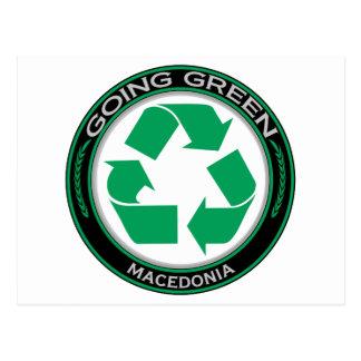 Recyceln Sie Macedonia Postkarte