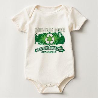 Recyceln Sie Massachusetts Baby Strampler