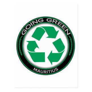 Recyceln Sie Mauritius Postkarte