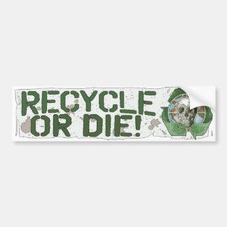 Recyceln Sie oder die Schädel Autoaufkleber