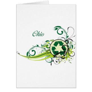 Recyceln Sie Ohio Karte