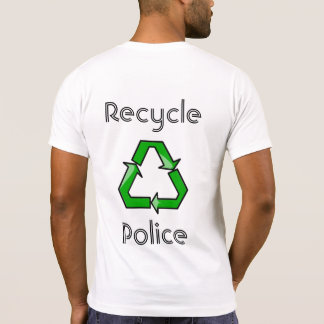 Recyceln Sie Polizei T-Shirt