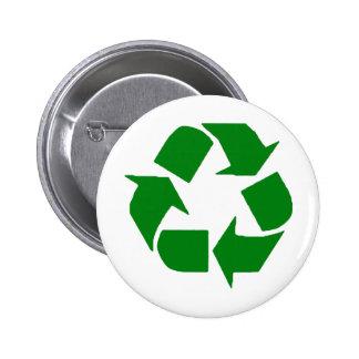 Recyceln Sie Runder Button 5,7 Cm