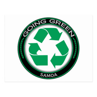 Recyceln Sie Samoa-Inseln Postkarte