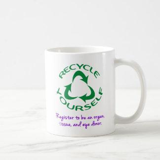 Recyceln Sie sich Kaffeetasse