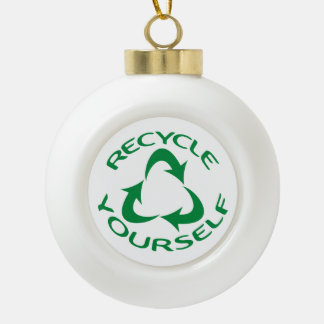 Recyceln Sie sich Keramik Kugel-Ornament