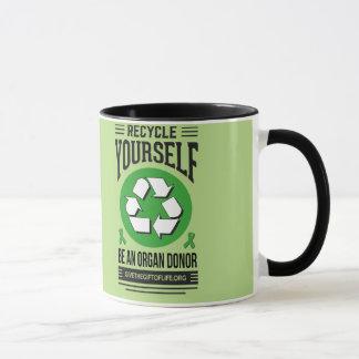 Recyceln Sie sich Tasse