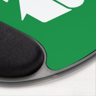Recyceln Sie Symbol auf Grün Gel Mousepad