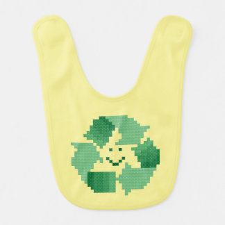 Recyceln Sie Symbol Babylätzchen