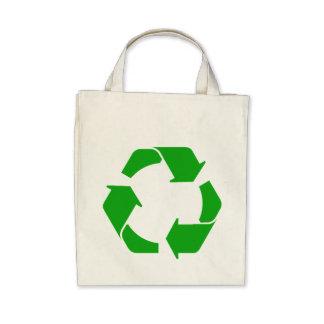 Recyceln Sie Symbol-Bio Taschen-Tasche