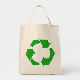 Recyceln Sie Symbol-Bio Taschen-Tasche Einkaufstasche