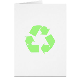 Recyceln Sie Symbol Karte