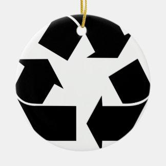 Recyceln Sie Symbol Keramik Ornament