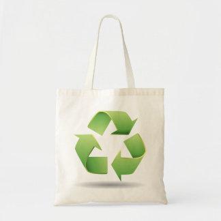 Recyceln Sie Symbol-Taschen-Tasche Budget Stoffbeutel