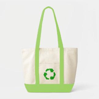 Recyceln Sie Symbol-Taschen-Tasche Impulse Stoffbeutel