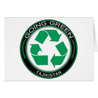 Recyceln Sie Tadschikistan Karte