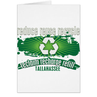 Recyceln Sie Tallahassee Karte