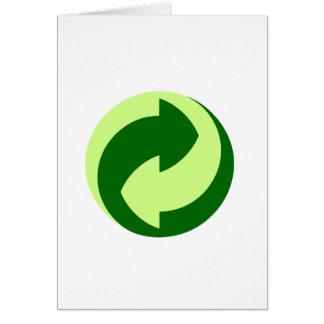 Recyceln Sie und Ökologie-Produkte u. Entwürfe! Karte