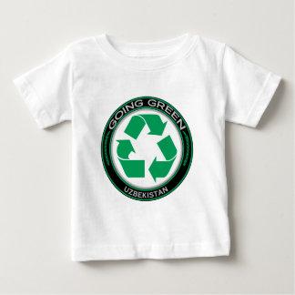 Recyceln Sie Usbekistan Baby T-shirt