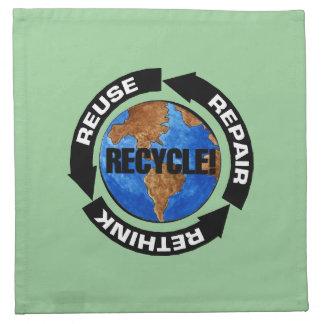 Recyceln Sie Welt Serviette