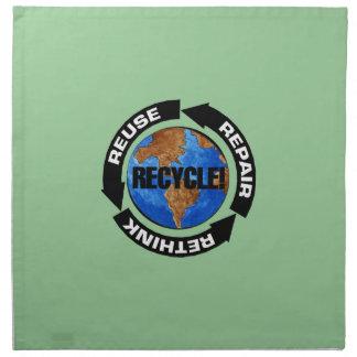 Recyceln Sie Welt Stoffserviette