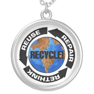 Recyceln Sie Welt Versilberte Kette