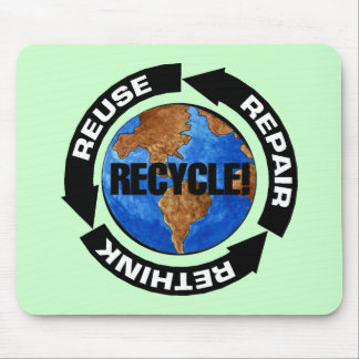 Recyceln Sie - Wiederverwendung - Erdtag Mousepad