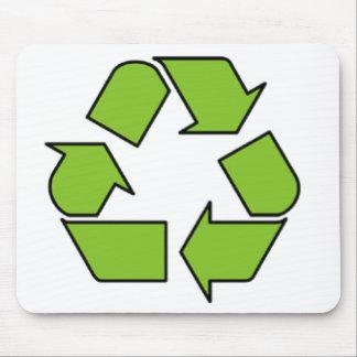 RECYCELN Sie ZEICHEN - grüner Gurt recyceln Symbol Mousepad
