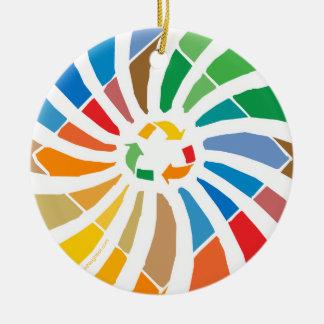 Recyceln Sie Zeichen-Kunst Keramik Ornament