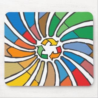Recyceln Sie Zeichen-Kunst Mousepad