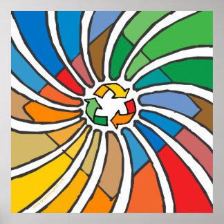 Recyceln Sie Zeichen-Kunst Poster