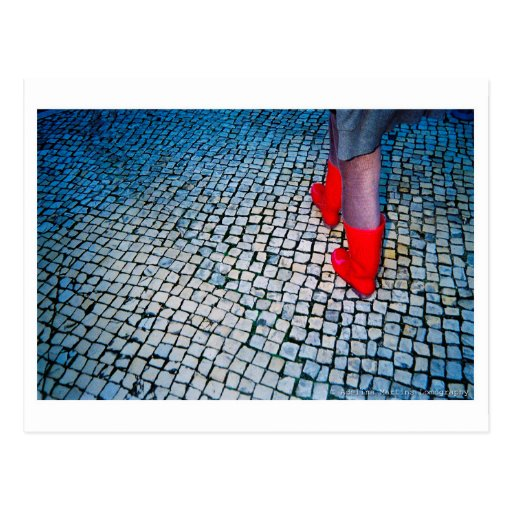 Red boots postkarte