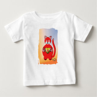 Red Cat Baby T-shirt