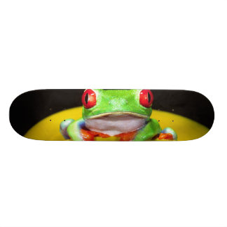 Red Eye Treefrog, Agalychinis callidryas, gebürtig Bedrucktes Skateboard