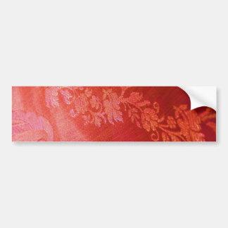 Red Floral Elegance Bumper Sticker - Customizable Bumper Sticker