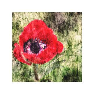 Red Flower Leinwanddruck
