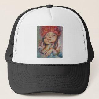 Red Hat - Porträt eines Mädchens Truckerkappe