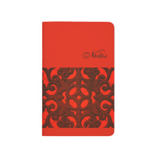 Red Ornament Pocket Journal Notizbücher