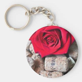 RED ROSE with cork Schlüsselanhänger