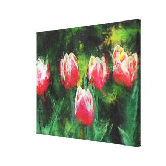 Red tulips leinwanddruck